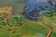 Mont St. Michel in-game (Civ6)