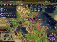 Nan Madol example - Circled Districts (Civ6)