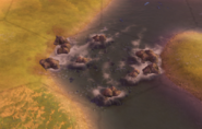 Cataract tile in-game (Civ6)