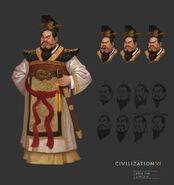 Qin Shi Huang concept art (Civ6)