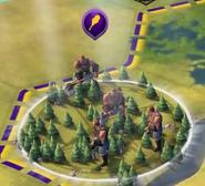 Warriors On Map (Civ6)