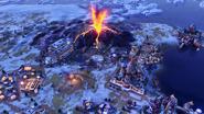 Volcanic eruption (Civ6)