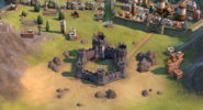 Medieval Fort Between Two Mountains (Civ6)