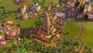 Mahabodhi Temple in-game (Civ6)