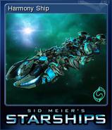 Steam trading card small Harmony Ship (Starships)
