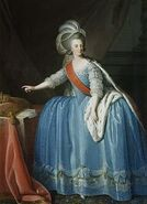 Portrait of the Queen Dona Maria I with a Crown