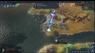 Beyond Earth - Rising Tide - Golem shooting screenshot