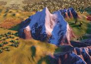 Natural Wonder Mount Everest closeup (Civ6)