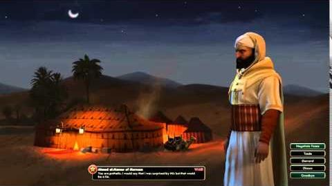 Civilization V Leader Ahmad al-Mansur of Morocco Attacked
