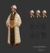 Saladin concept art (Civ6)