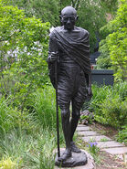 Gandhi with Walking Stick Statue