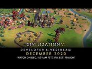 Civilization VI - December 2020 Game Update Developer Livestream - VOD