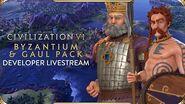 Civilization VI - Byzantium & Gaul Pack Developer Livestream VOD (New Frontier Pass)