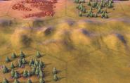 Hills on plains tile in-game (Civ6)