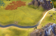 Plains tile in-game (Civ6)