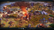 Comet strike in-game (Civ6)