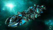 Steam trading card large Harmony Ship (Starships)