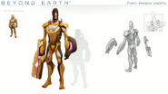 Beyond Earth - Rising Tide - Purity-Harmony Immortal concept art