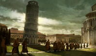 Leaning Tower of Pisa completion art (Civ5)
