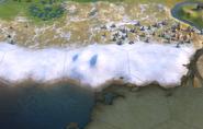 Hills on snow tile in-game (Civ6)
