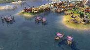 Civ 6 Viking Longships