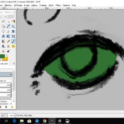 Tuto line - Les yeux