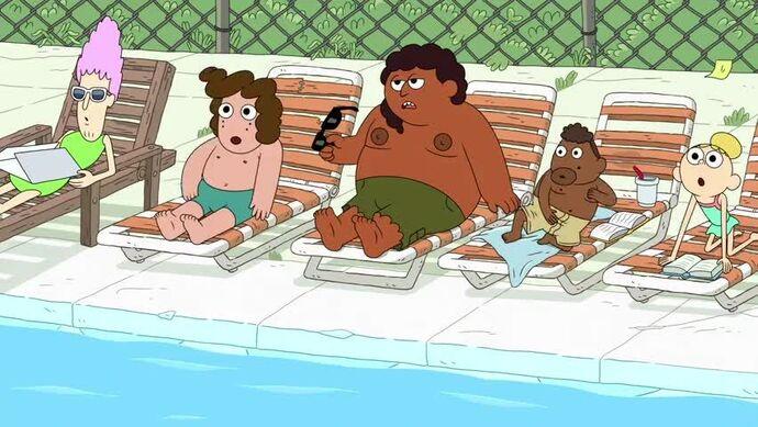 Verano en la piscina