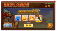 Seasonal challenge gold pass