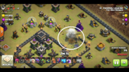 Logan yuvaraj's Th9 QC zap Dragon war base 1 heavily damaging the enemy queen with lightning