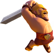 Barbarian swinging