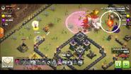 Logan yuvaraj's TH9 QC zap Dragon war base 1 Dragons take out enemy CC while a balloon finds a seeking air mine