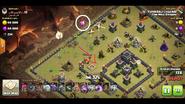 Logan yuvaraj's TH9 QC zap Dragon war base 1 Baby dragon part 1