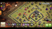 Logan yuvaraj's TH9 QC zap Dragon warbase 1 King and Queen Entered the base with the WB