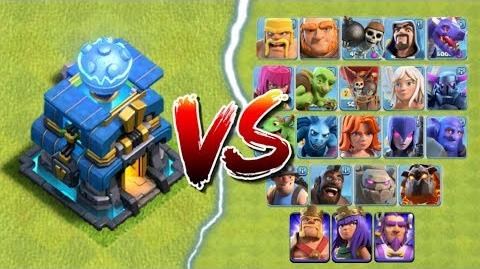 GIGA TESLA vs ALL TROOPS in Clash of Clans Town Hall 12 CoC Update - New Defense Attacks!
