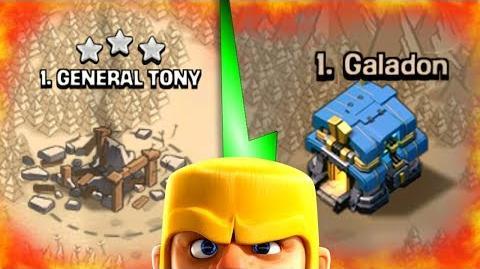 GENERAL TONY vs GALADON! - YOUTUBER HEAD TO HEAD! - Clash Of Clans