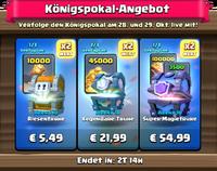 Königspokal-Angebot