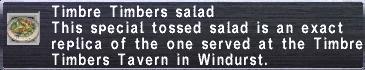 Timbre Timbers Salad