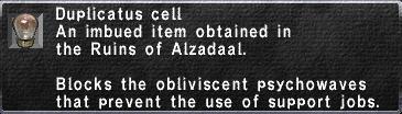 Duplicatus Cell