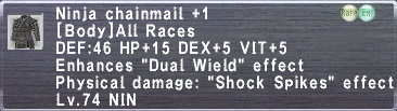Ninja Chainmail Plus 1