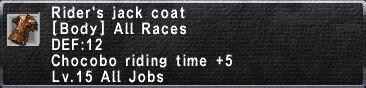 Rider's Jack Coat