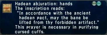 Hadean Abjuration: Hands