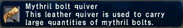 Mythril Bolt Quiver