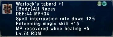 Warlock's Tabard +1