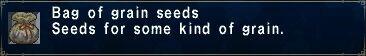 A bag of grain seeds