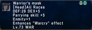 WarriorsMask