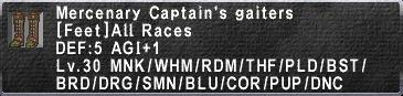 Mercenary Captain's Gaiters