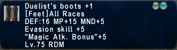 Duelist's Boots +1