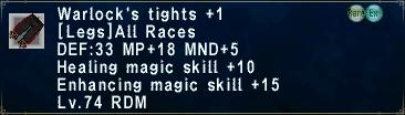 Warlock's Tights +1