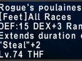 Rogue's Poulaines +1