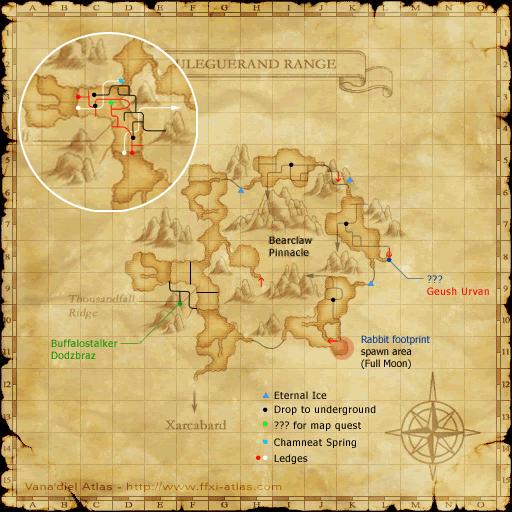 Map of the Uleguerand Range